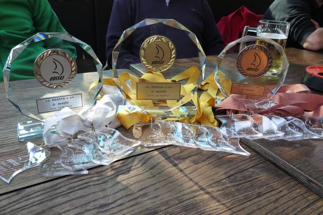 Pokali in medalje 12. regate J24